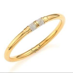 Nwt Michael Kors Gold Tone Park Ave Pave Bracelet